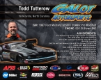 GALOT Motorsports: Hero Card - Todd Tutterow (back)