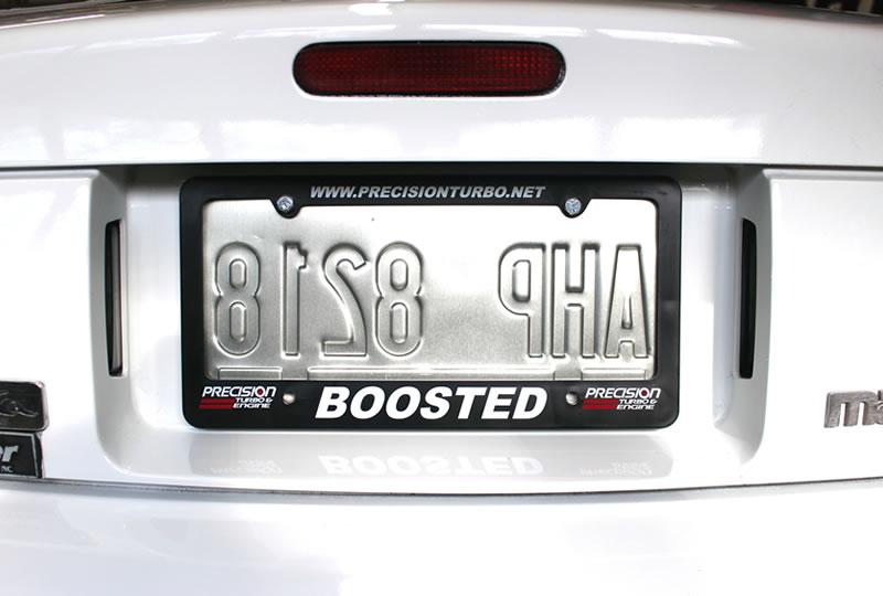 Precision Turbo: License Plate Frame