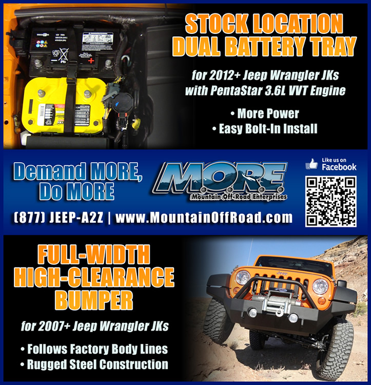 M.O.R.E.: 6.75x7 print ad for Moab Easter Jeep Safari