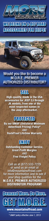 M.O.R.E.: 18x9.5 print ad for Off-Road Industry magazine
