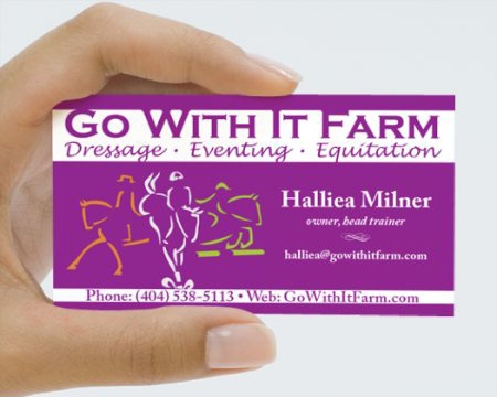 Go With It Farm: Business Card