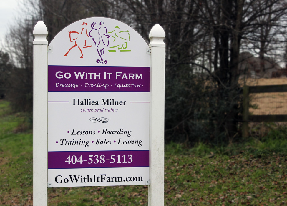 Go With It Farm: Sign