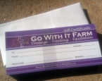 Go With It Farm: Gift Certificates