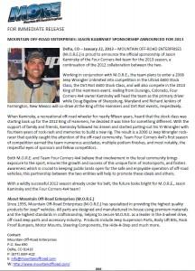 M.O.R.E.: Jason Kaminsky Sponsorship Announced for 2013