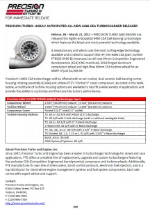 Precision Turbo: Highly Anticipated 6466 CEA® Turbocharger Released